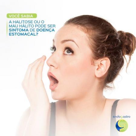 A halitose ou mau hálito pode ser sintoma de doença estomacal?